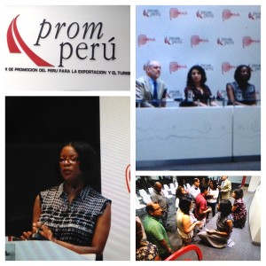 caletha crawford at the peruvian trade commission presentation